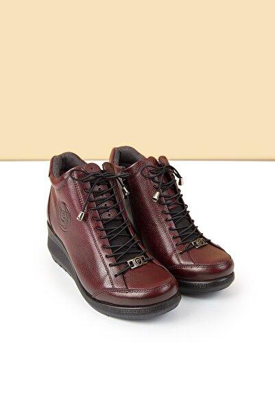 Pierre Cardin Kadın Bordo Dolgu Topuklu Ayakkabı Pc-50373 - 3109-03