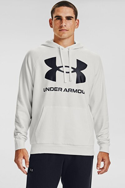 Under Armour Erkek Spor Sweatshirt - Ua Rival Fleece Big Logo Hd - 1357093-112