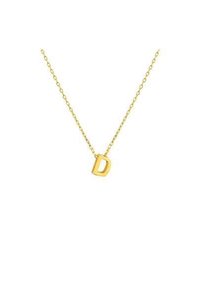Gimora Kadın Gold Mini D Harfi Gümüş Kolye
