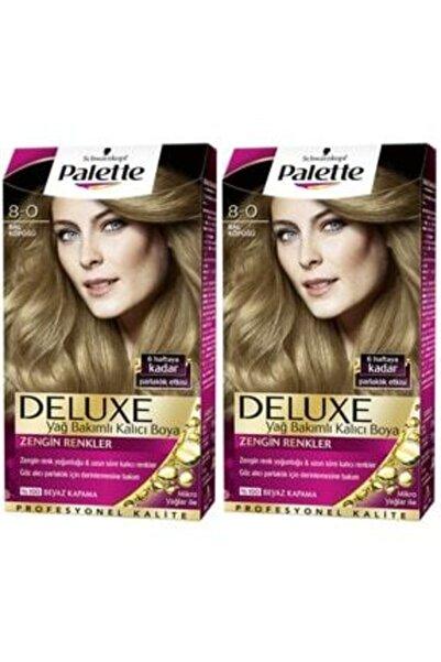SCHWARZKOPF HAIR MASCARA Palette Deluxe 8-0 Bal Köpüğü X 2 Saç Boyası 50 Ml