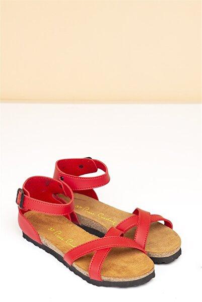 Pierre Cardin Kadın Kırmızı Günlük Sandalet  Pc-5081