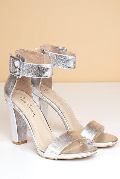 Pierre Cardin Kadın Gümüş Parlak Topuklu Ayakkabı  Pc-50171