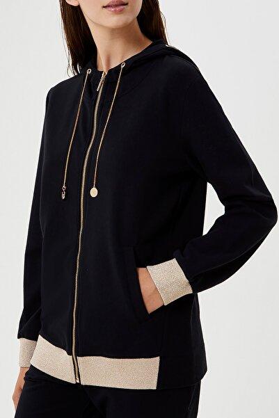 Liu Jo Kadın Siyah Sweatshırt