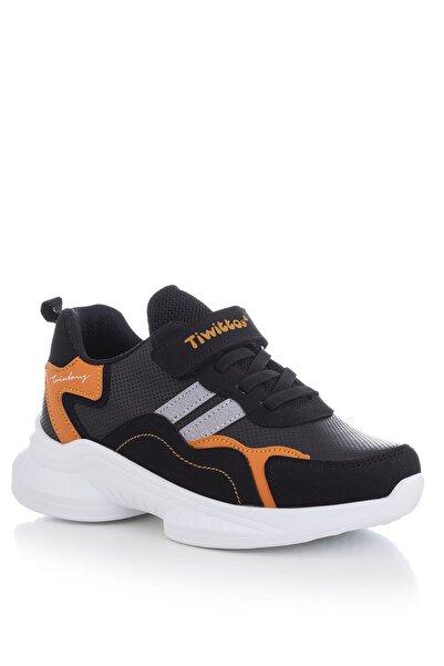 Tonny Black Siyah Turuncu Çocuk Spor Ayakkabı Tbk5