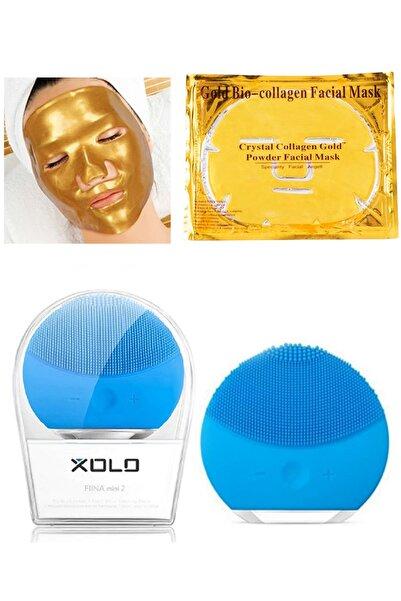 xolo Mavi Şarjlı Yüz Temizleme Cihazı + Gold Bio Collagen Altın Yüz Maskesi 8133458903569