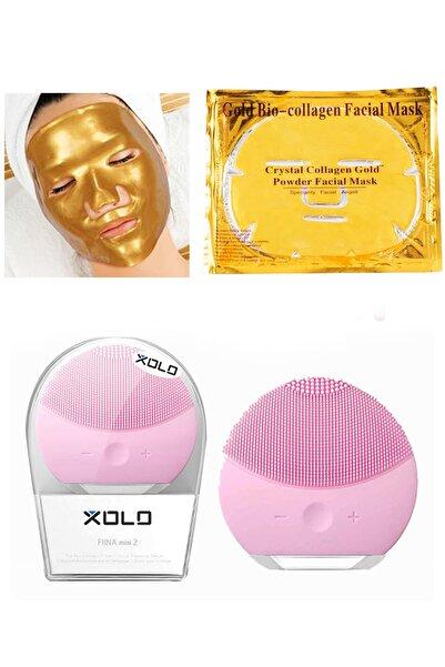 xolo Pembe Şarjlı Yüz Temizleme Cihazı + Gold Bio Collagen Altın Yüz Maskesi 8133458903570