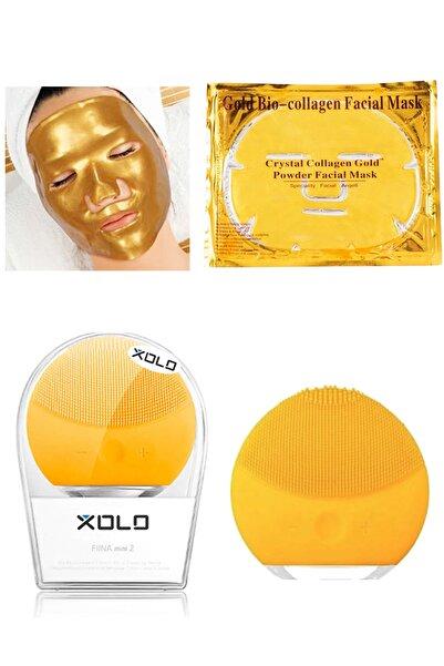 xolo Sarı Şarjlı Yüz Temizleme Cihazı + Gold Bio Collagen Altın Yüz Maskesi 8133458903572