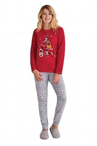 ROLY POLY Kadın Kırmızı Baskılı Pijama Takımı