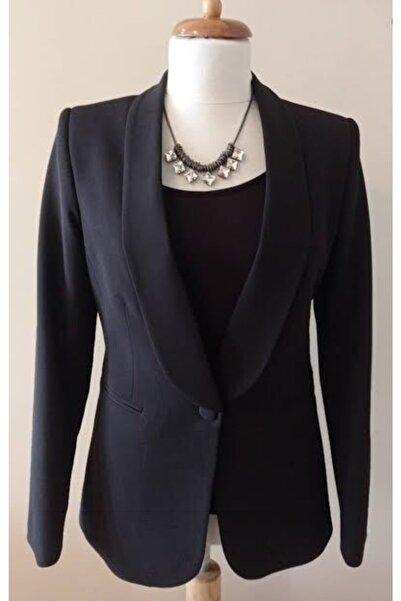 Ashley Kadın Siyah Şal Yaka Ceket
