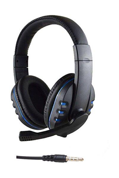 Rowen Gm002 Stereo Kulaküstü Mikrofonlu Oyuncu Kulaklık 3.5mm Tek Jack Mavi