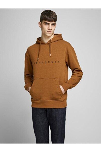 Jack & Jones Erkek Kahverengi Copenhagen Sweat Hood Sweatshirt 12176864-15