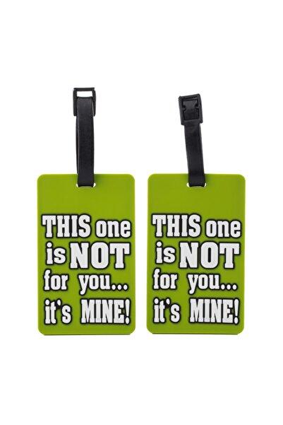 Mosafer Yeşil Sloganlı Valiz Etiketleri