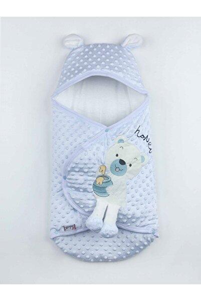 Modakids Mavi Kız Bebek Ayıcıklı Nohut Kundak