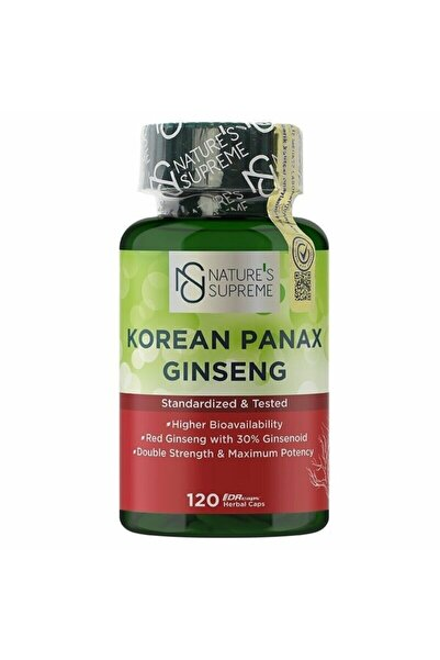 Nature's Supreme Korean Panax Ginseng 120 Kapsül