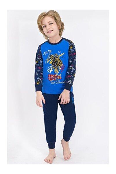 U.S. Polo Assn. Kids U.s. Polo Assn Lisanslı Mavi Erkek Çocuk Pijama Takımı