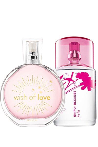 AVON Wish Of Love Ve Simply Because Kadın Parfüm Paketi