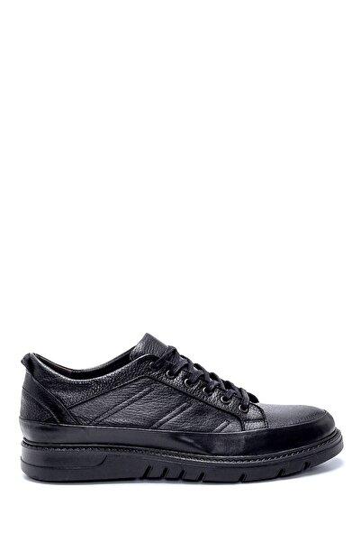 Derimod Erkek Siyah Deri Sneaker