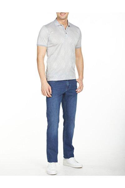 Bisse Erkek Gri  Merserize Jakarlı Gömlek Yaka T-shirt