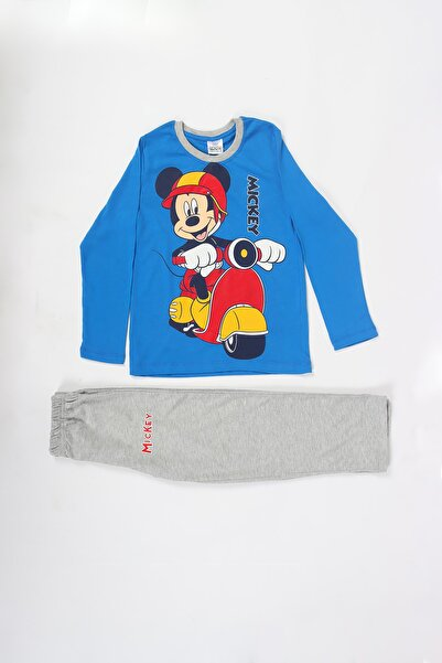 DISNEY Kız Çocuk Mavi Mickey Mouse Eşofman Takımı