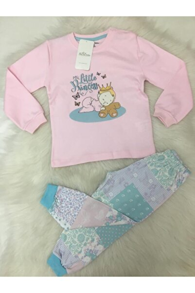 Aziz Bebe Kız Çocuk Pembe Myc Little Princess Pijama Takımı