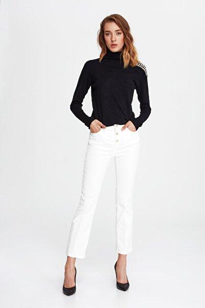 Liu Jo Kadın Beyaz Pantolon