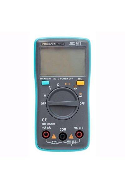 Class Dijital Ölçü Aleti - Toolfıx Tf 98 Otomatik Kademe /ekran Işığı /düşük Pil
