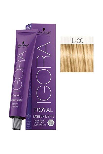 SCHWARZKOPF HAIR MASCARA Igora Royal Fashion Lights L-00 Yoğun Doğal Oksidansız