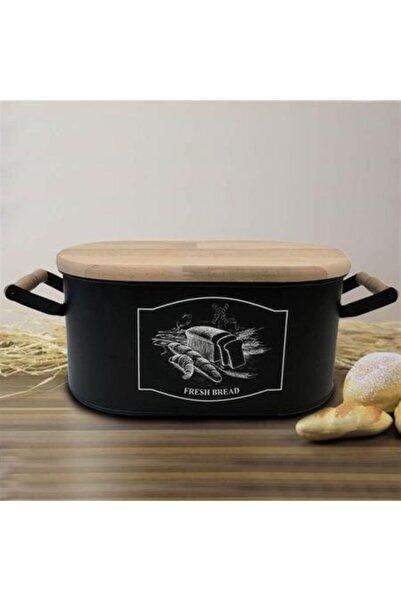 Bambum Sonata Galvaniz Kesme Tahtası Kapaklı Ekmek Kutusu