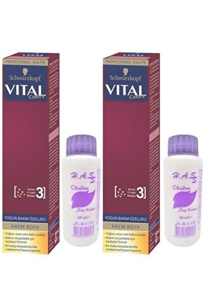 SCHWARZKOPF HAIR MASCARA Vital Colors Saç Boyası Altın Kumral-6-3 Oksidan 2 Adet