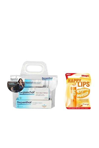 Bepanthol Onarıcı Krem 30 gr Cilt Kremi 30 gr Dudak Kremi Orange Lip Protector Üçlü Set