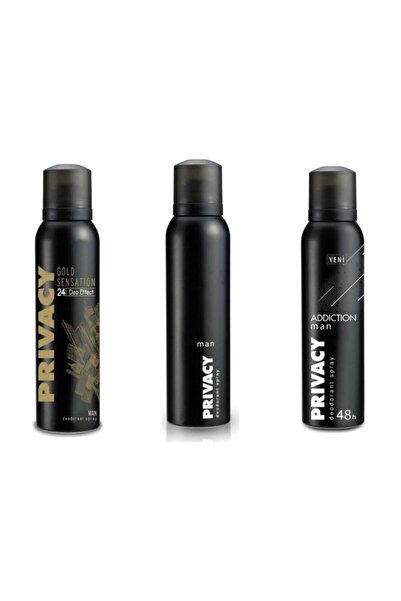 Privacy Erkek 3 Lü Privacy +Gold +Addiction Deodarant
