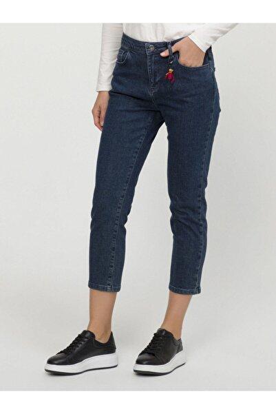 Xint Kadın Lacivert Yüksek Bel Pantolon