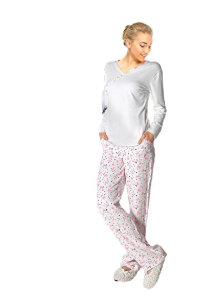 Doremi Kadın Ekru Pijama Takımı