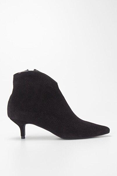 Louis Cardy Kadın Siyah Hakiki Deri Topuklu Bot