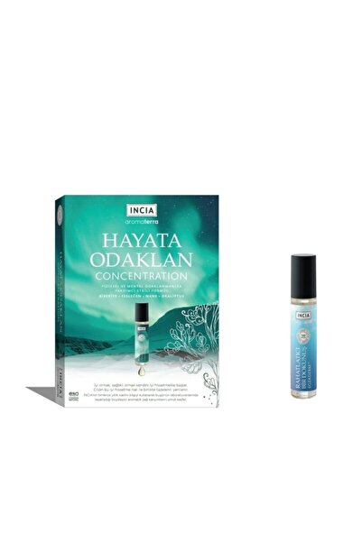 Incia Aromaterra Hayata Odaklan Aromatik Yağ 10 ml + Incıa Aromaterra Rahatlatıcı Dokunuş 10 ml