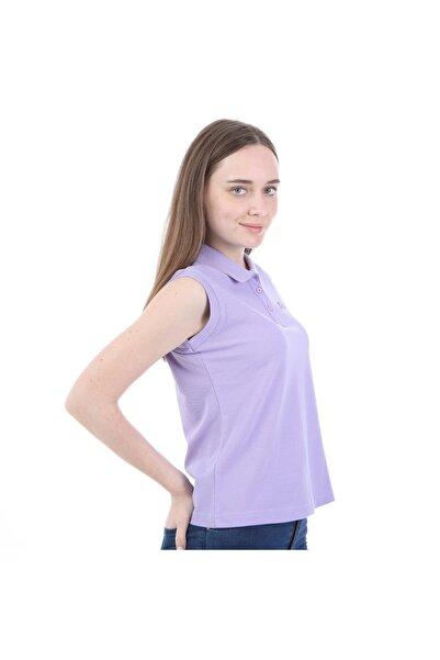 Kappa Kadın Lila Kolsuz Polo Yaka T-shirt