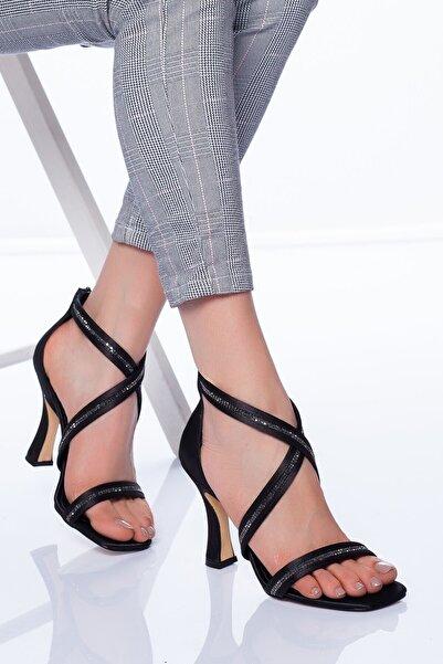 VİVA Kadın Siyah Alberta Topuklu Ayakkabı