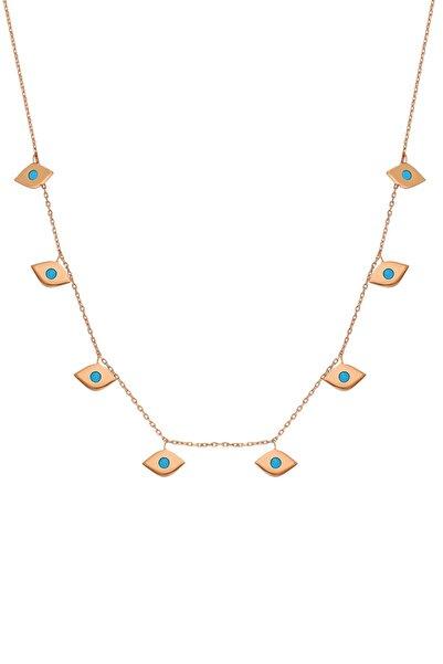Chavin Nazar Göz Taşlı Charm Gümüş Kolye Eh88rs