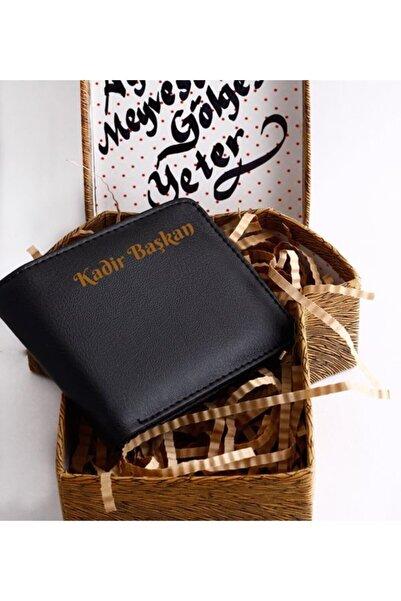 HediyeSepete Kahverengi Gömlek Kutu Siyah Cüzdan Seti