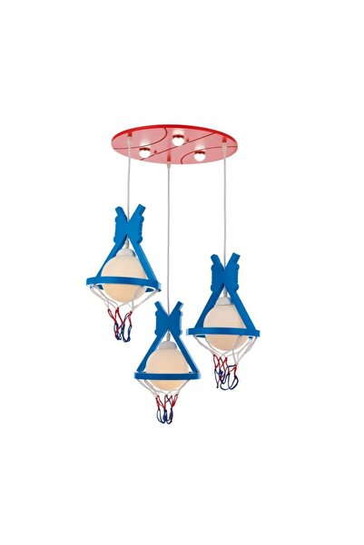 Eray Aydınlatma 5613-6 Mavi Basketbol Çocuk Odası Avize