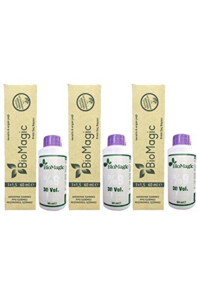 BIOMAGIC Organik Amonyaksız Saç Boyası Fildişi Sarısı-11.00 ve Oksidan 3 Adet
