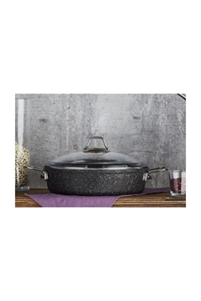 FALEZ Black Line Granit Döküm  Kısa Tencere 30 cm