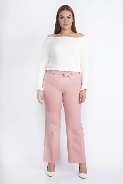 Şans Kadın Pembe Cep Detaylı Pantolon 65N20217