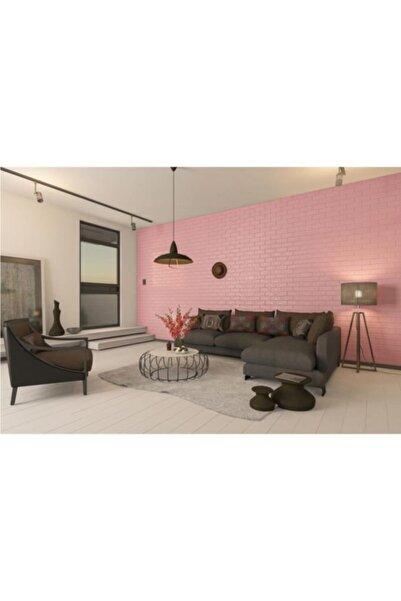 Renkli Duvarlar Kendinden Yapışkanlı 3d Duvar Kağıdı Paneli 70x38 Cm Pembe