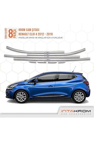 İntachrom Renault Clio 4 Krom Cam Çıtası 8 Parça 2012 -2018 / Hb