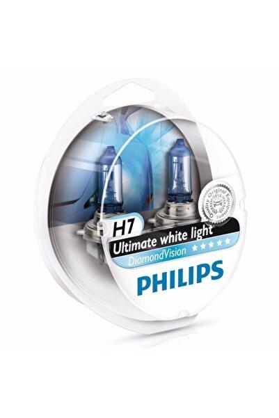 Philips H7 Diamond Vision Tam Beyaz Işık Ampul Seti 12972 Dvs2