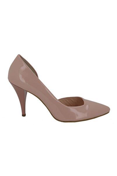 Hobby Kadın Pudra Rugan Stiletto Kadın Ayakkabı 226