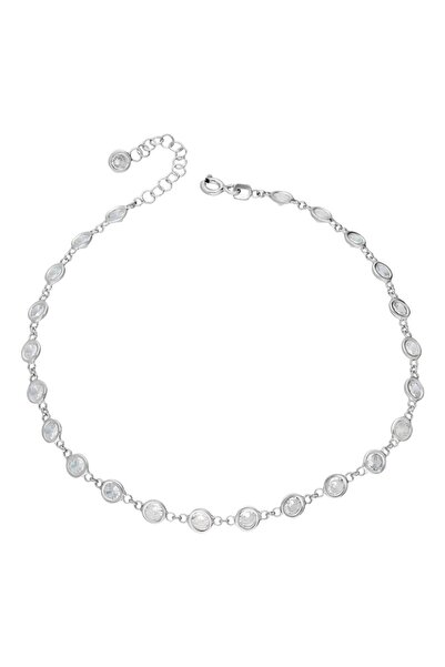 Chavin Tiffany Sıra Taşlı Gümüş Halhal Eg77by