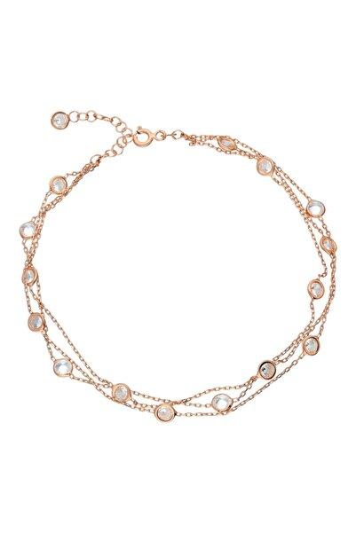 Chavin Rose Tiffany 3 Sıra Taşlı Gümüş Halhal Eg76rs