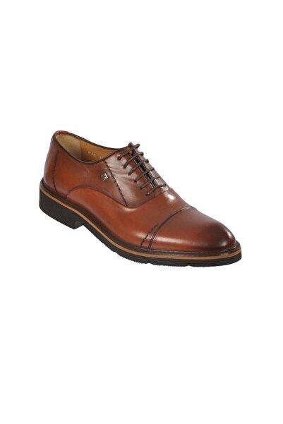 Fosco Erkek Kahverengi Deri Klasik Ayakkabı